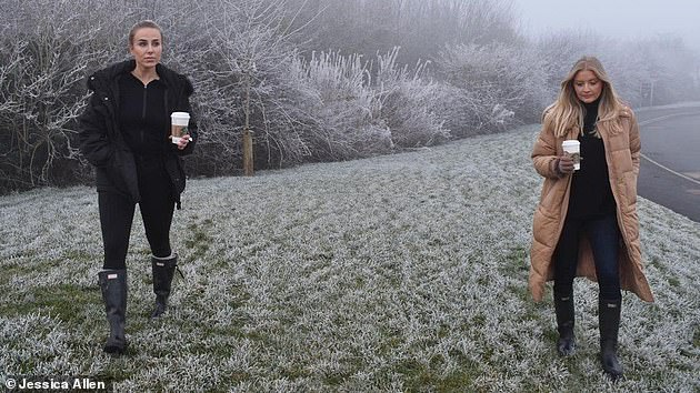 Jessica Allen and Eliza Moore, pictured, both 27, who were each fined £200 by police for driving 10 minutess for a walk say they've had their fines cancelled following a backlash