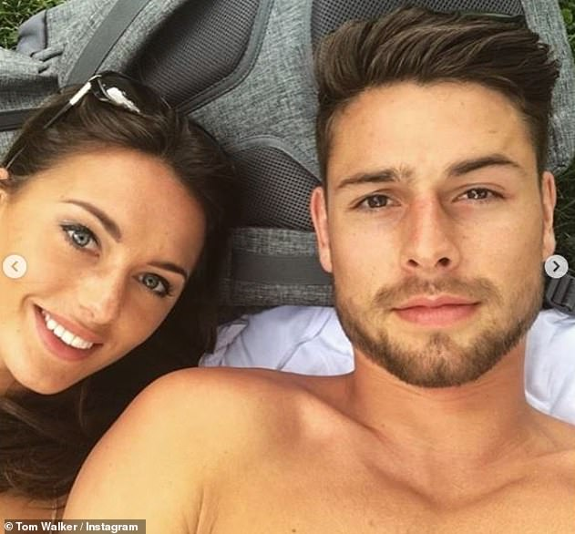Good news: The couple tied the knot in a romantic ceremony in Harrogate, North Yorkshire, on January 2, with model Tom, 31, taking to Instagram to share the news on Monday