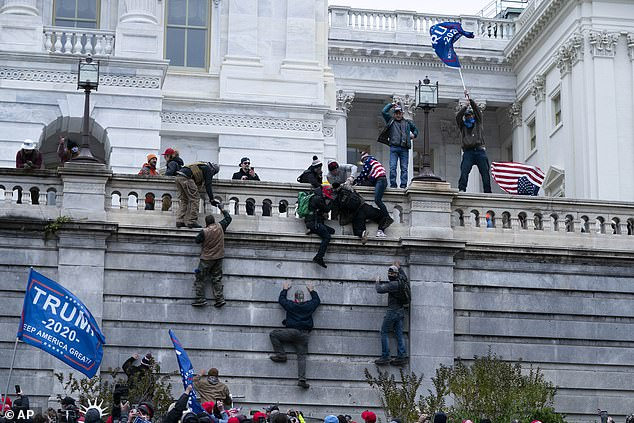 Trump supporters scaled the walls of the Capitol and broke in, for the first time since 1814