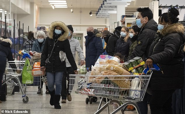 Ministers are not said to be considering extending the ban to supermarkets, for fear that online delivery systems would be overwhelmed