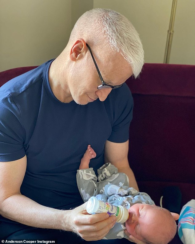 'I'm very blessed': One of those blessings, of course, is his eight-month-old son Wyatt, named for his father, whom he had via surrogate last year