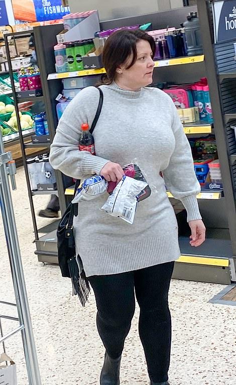 A shopper in Morrisons in Leeds not wearing a mask