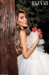Farrah Abraham exudes elegance in a bridal-inspired gown as she poses for Harper's Bazaar Vietnam