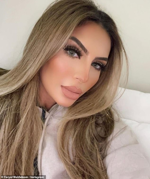 Angry:Faryal has been raising eyebrows of late, after flying to Dubai in December despite suffering from COVID-19 symptoms and labelling the UK government a 'dictatorship' over its new travel restrictions for those travelling to and from the UEA