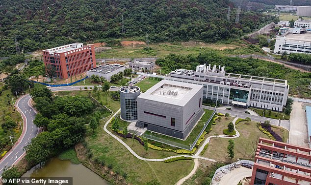 Investigation: Former Brexit Secretary David Davis said it was ¿vital¿ the WHO team probe the Wuhan Institute of Virology in China (pictured) as the possible origin of the Covid pandemic