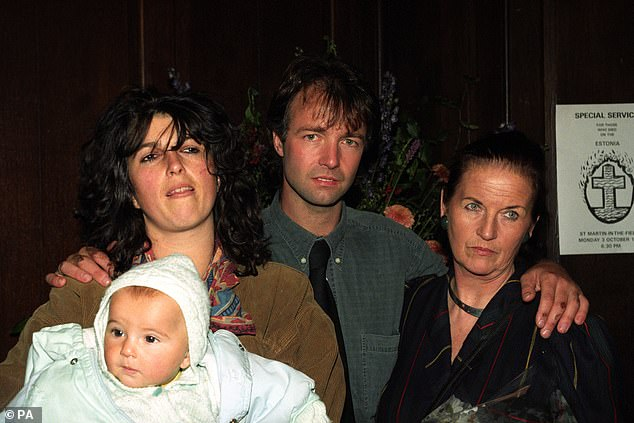 Sole British survivor Paul Barney with his mother Jane Henry, sister Delphi Thompson and nephew Mx Thompson at a special service held in London for those who had lost their lives