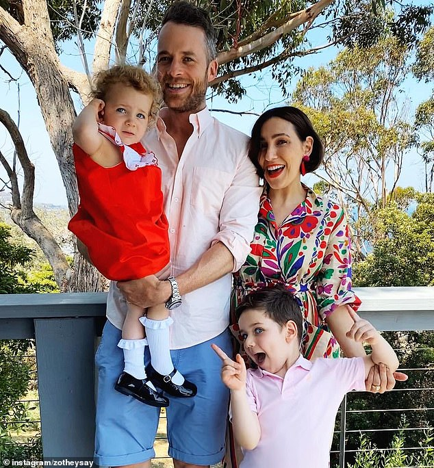 'We're excited for this adventure with our little family': Hamish said the loose plan was for the family to reside in Sydney for 'a few years' as he will always see Melbourne as his true home
