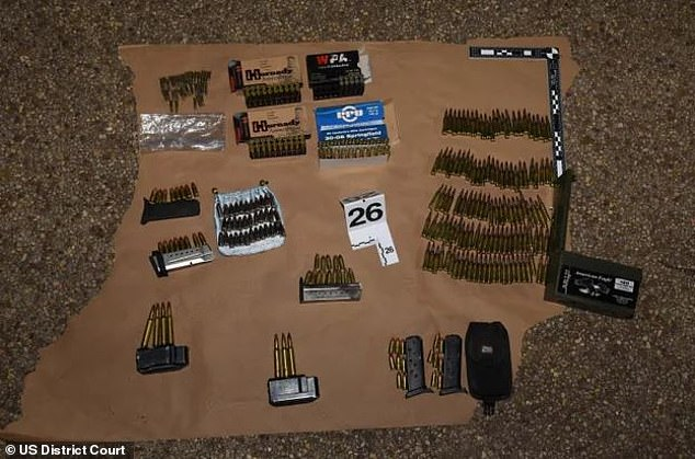 Pictured above is an image of ammunition purportedly uncovered in Coffamn's red pick-up truck parked near the Capitol