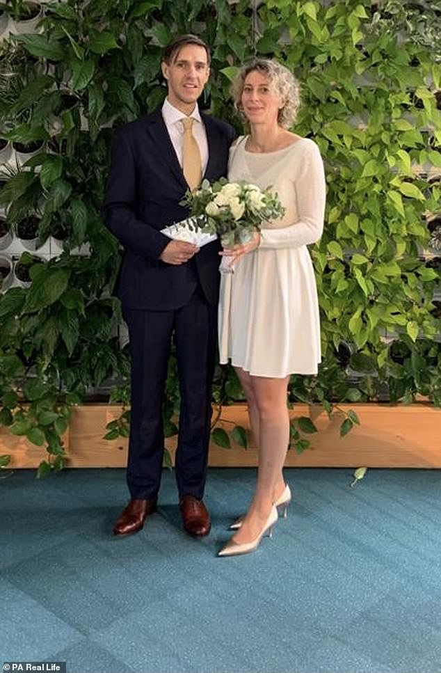 Newly weds Ben and Indiana Fox met on the app last April and married in December