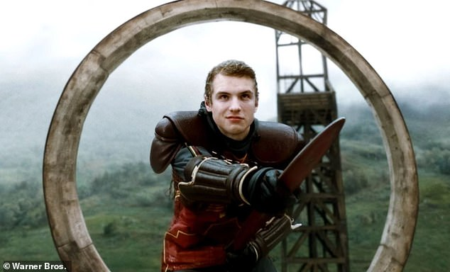 Quidditch player: The 34-year-old Englishman portrayed Gryffindor house wizard Cormac McLaggen in Harry Potter and the Half Blood Prince (pictured in 2009) as well as Harry Potter and the Deathly Hallows – Parts 1 and 2