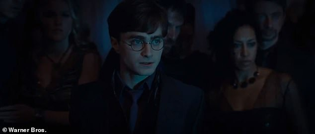 Remember? It's the scene where Harry Potter (Daniel Radcliffe) and his friends were terrorized by the party-crashing Death Eaters before they disapparate to London