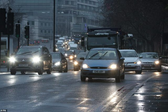 Traffic comes into London over the Marylebone flyover as England's third coronavirus national lockdown continues