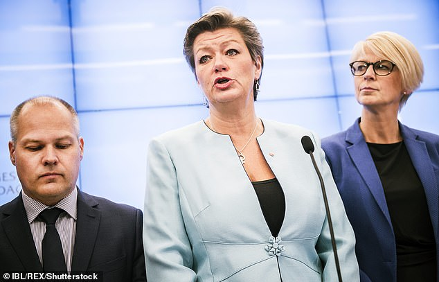 Morgan Johansson (left), Sweden's justice and migration minister is behind the proposals that will require migrants to learn Swedish languages skills in order to attain permanent residence