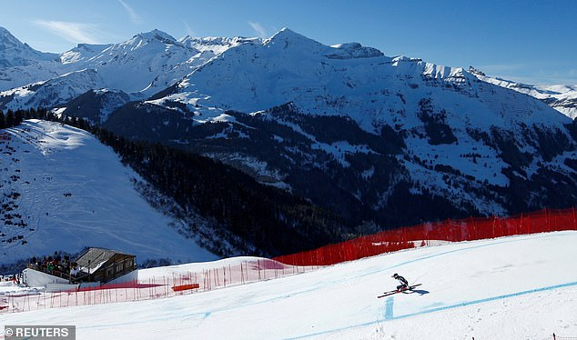 Wiley Maple of the U.S. in action during the first run of last year's Lauberhorn classic in Wengen