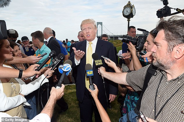 NEW YORK, NY - JULY 06: Donald Trump attends the 2015 Hank's Yanks Golf Classic at Trump Golf Links Ferry Point on July 6, 2015 in New York City