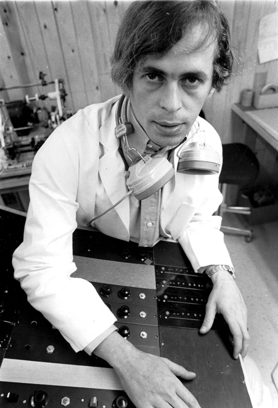 Alex Mardas (Magic Alex), head of the electronics division of The Beatles' Apple business venture, pictured in 1968