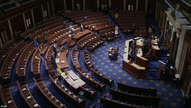 The House of Representatives voted late into the night Wednesday on a resolution that encourages Vice President Mike Pence to use the 25th Amendment and remove President Donald Trump from power