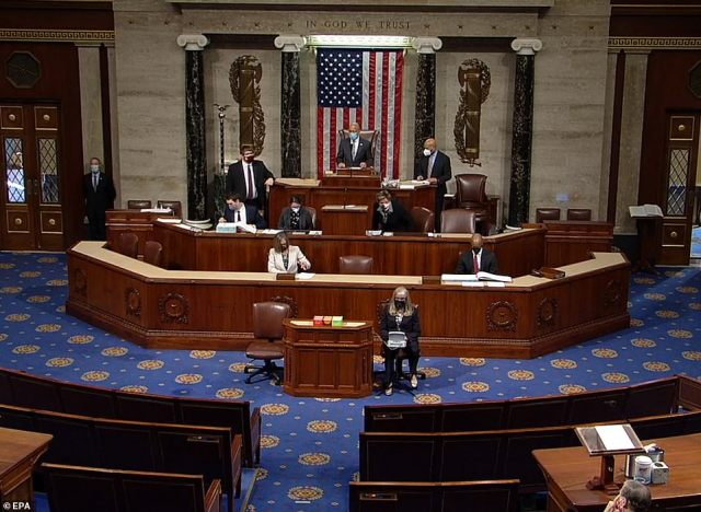 The House of Representatives began debating impeaching President Donald Trump for a second time Wednesday morning - which marks a historic first