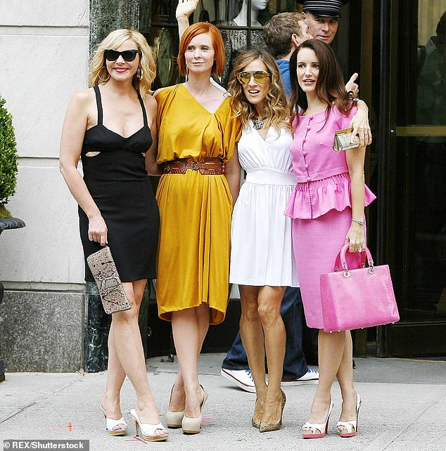 Big news: The 55-year-old actress confirmed there will not be a fourth character in the recently announced Sex And The City revival, as original castmembers ) Kim Cattrall, Cynthia Nixon, Sarah, and Kristin Davis are seen left to right on set of Sex And The City 2 in 2009
