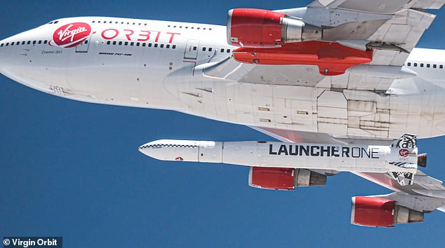 Virgin One's LauncherOne is set to take off from California's Mojave Air and Space Port onJanuary 17 between 10am and 2pm local time