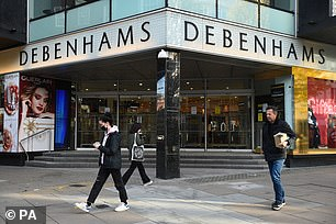Department store chain Debenhams has said it will permanently close six branches, including the flagship Oxford St shop