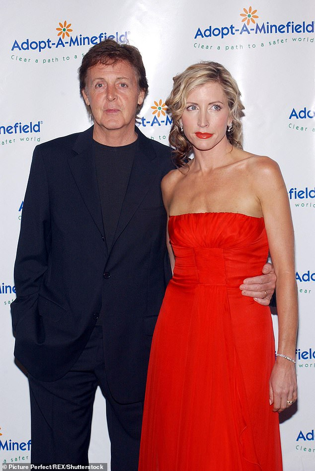 Bitter split: Heather's alleged engagement comes 13 years after her well-publicised divorce battle with Sir Paul McCartney, 78 (pictured in 2004)