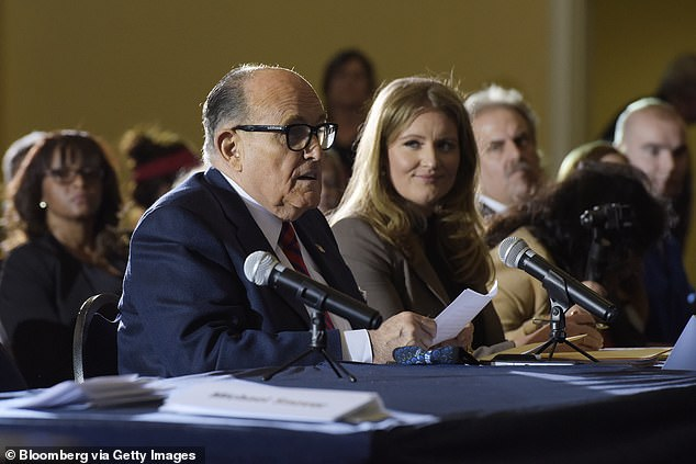 Rudy Giuliani, personal lawyer to U.S. President Donald Trump, speaks during a Pennsylvania Senate Majority Policy Committee hearing in Gettysburg, Pennsylvania, U.S., on Wednesday, Nov. 25, 2020. Trump ran with Giuliani's claims of massive fraud, continuing to make the case at a rally before the Capitol riot