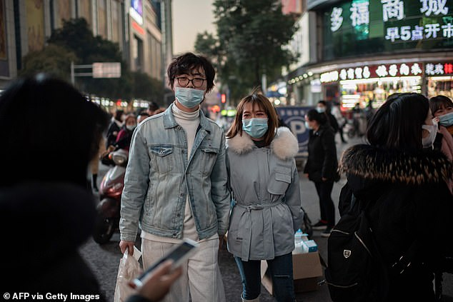 The nation's biggest daily jump in Covid-19 cases since March 5 was reported on Thursday, with 138 infections noted compared to 115 cases a day earlier. Pictured: Wuhan