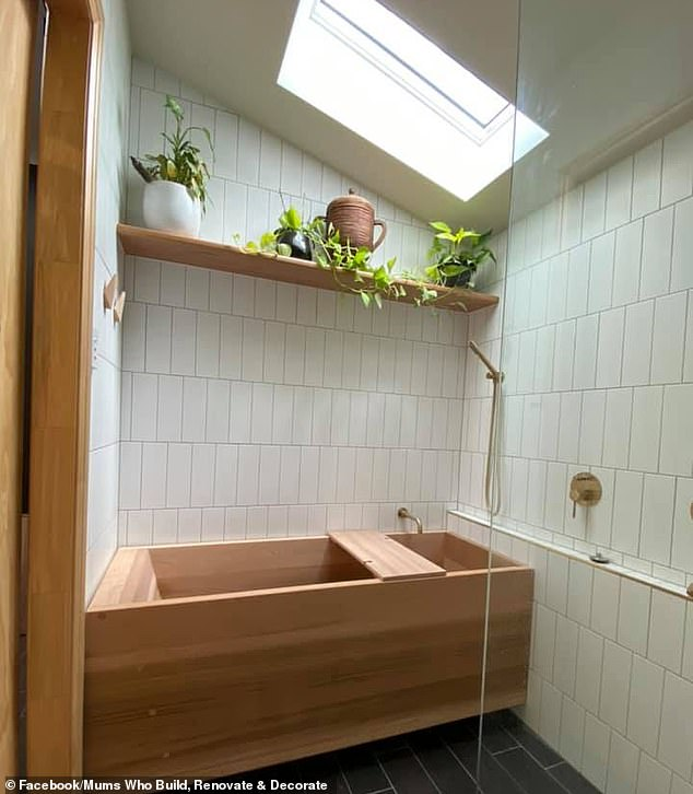 Elissa, from Brisbane, and her husband chose the Japanese style as the narrow space was unable to fit a standard sized bathtub