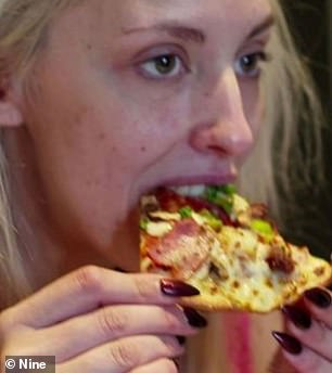 Brits comments on Married at first sight Australia: In a series of Twitter posts, fans have strong opinions on Ines Basic, Sam Ball, and even Lizzie Sobinoff [pictured] bake a slice of pizza in the toaster