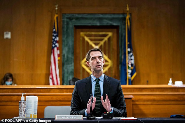 Sen Tom Cotton argues the Senate lacks authority to hold trial once the president leaves office