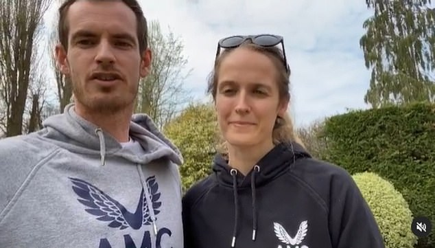 In the last week there has been a minor outbreak at Roehampton¿s National Tennis Centre, where Murray (pictured with wife Kim) had performed the bulk of his training