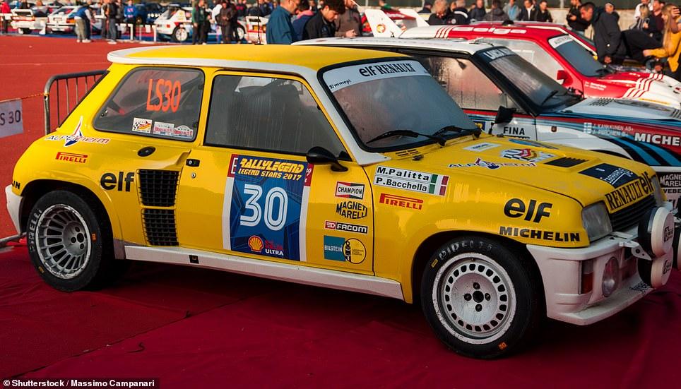 A 1982 Renault 5 Turbo racing car rally