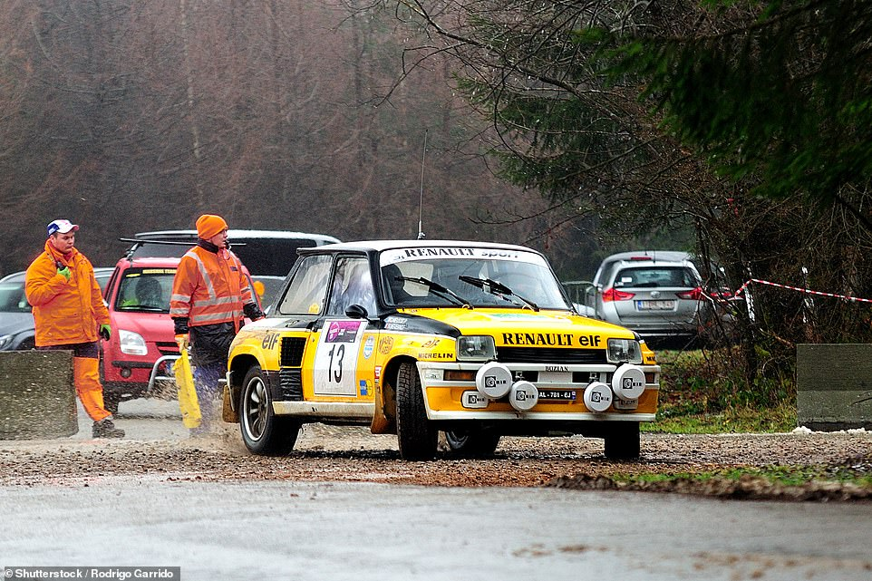 The Renault 5 Turbo is still considered a rally icon. Here, French driver Paul Chieusse and his co-driver Fabienne Brunet de Bainne are seen competing in the Legend Boucles a Bastogne in Belgium in February 2016