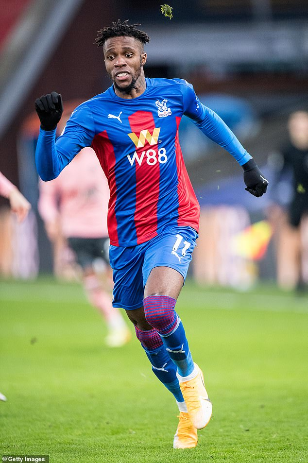 During a recent match against Sheffield United, Wilfried Zaha of Crystal Palace displayed a closely cut neat hairstyle