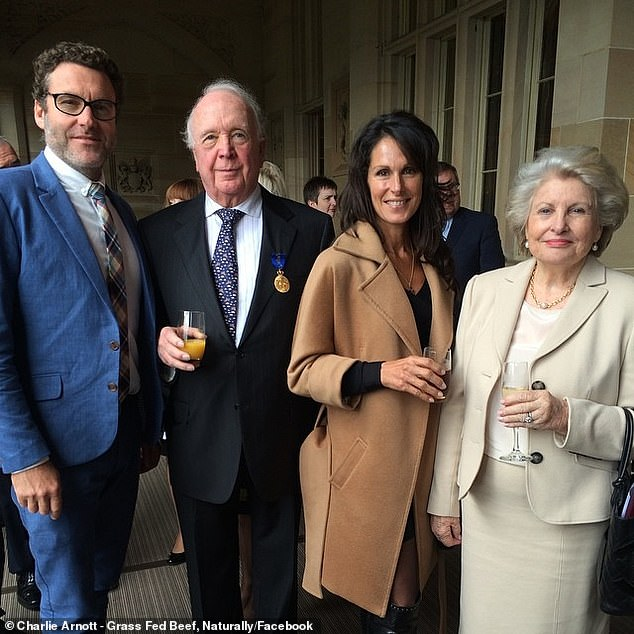 The Arnott family (pictured above) have sold the luxury retreat owned by Michael Arnott (pictured second to left), who is the great-great grandsonof Arnott's Biscuits founder William Arnott