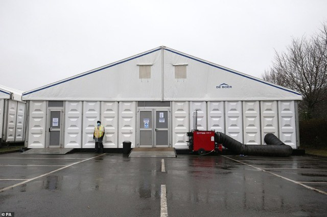 Breakspear Crematorium in Ruislip, West London, now has a new temporary mortuary that can hold up to 1,300 bodies