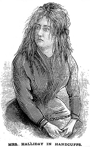 Lizzie Halliday, another Irish immigrant who was arrested and tried for murder