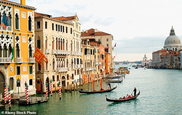 Venice's local authority said it had installed the sensors in order to direct tourists away from crowded areas and will use them 'in absolute respect of privacy'