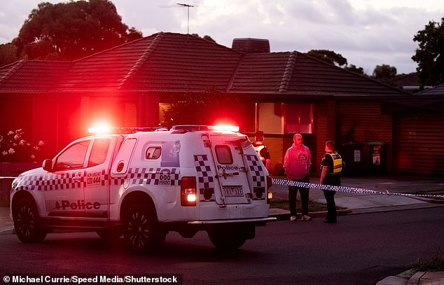 Acting Assistant Commissioner Mark Galliott said officers would remain at the 'gruesome' crime scene throughout the night