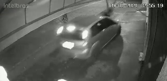 Brazilian authorities reviewed the video footage and claimed the driver might have hit the pedestrian on purpose