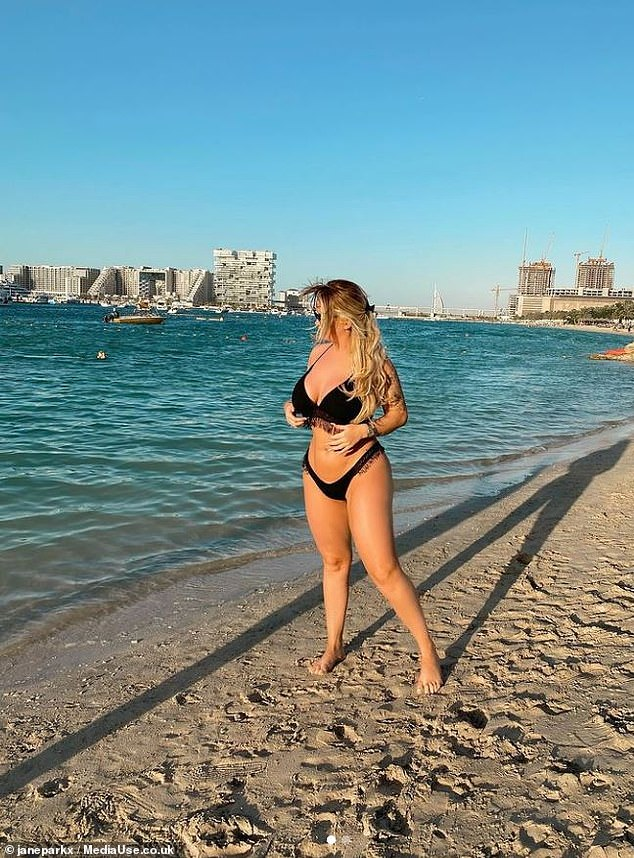 The Euromillions winner said she left Scotland because her mum is high risk and she's focused on business. Pictured: Jane in Dubai