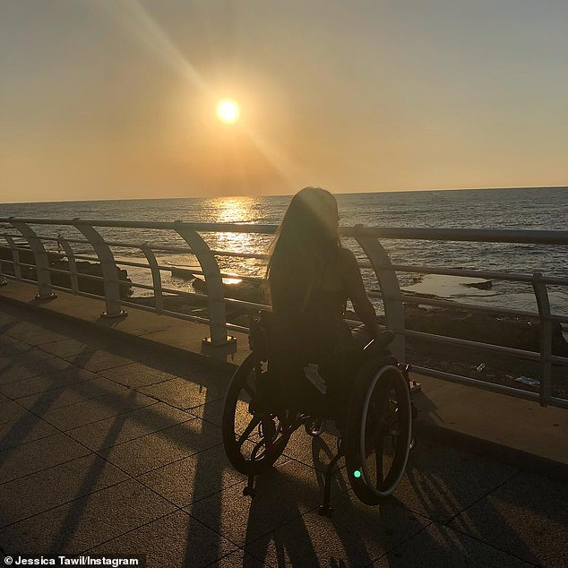 Before: Jessica Tawil from New Jersey suffered a spinal cord injury leaving her a T6 paraplegic when she was in high school