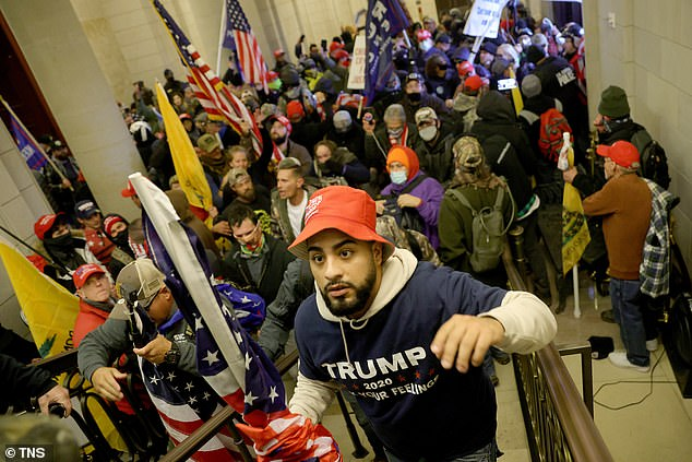 Protesters enter the U.S. Capitol Building on Wednesday, Jan. 6, 2021 in Washington, D.C. The riot that ensued resulted in six deaths