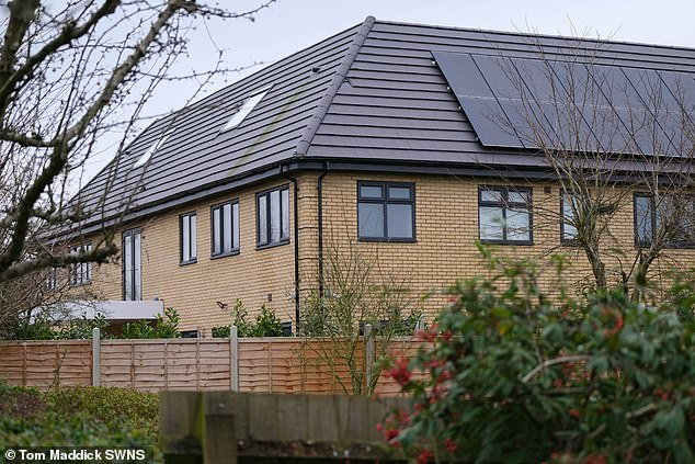 The home of Dr Srivastava in Milton Keynes which faces being knocked down after it was built without the correct permissions