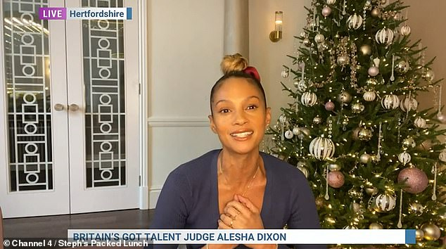 Glad: Alesha also spoke of BGT's support to Diversity after their BLM-inspired routine in last years seires, saying: 'I love that about the show... it doesn't discriminate against anyone'