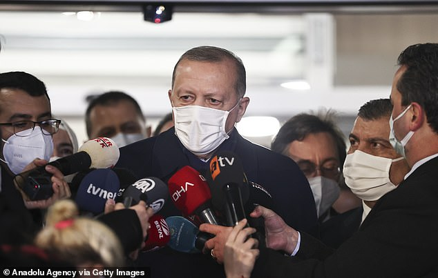 'There are some people doing negative campaigning (about vaccinations) but I am sure common sense will prevail,' Erdogan said