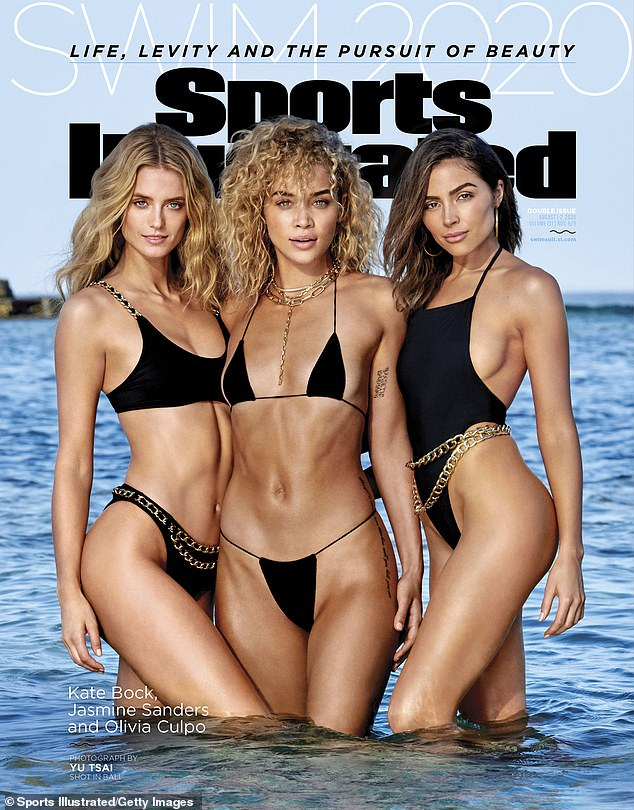 Wow-factor! The blonde hit headlines last summer when she starred on the 2020 Sports Illustrated alongside model Kate Bock (L) and Miss Universe 2012 winner Olivia Culpo (R)