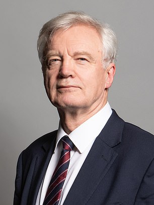 Pictured, David Davis, MP forHaltemprice and Howden