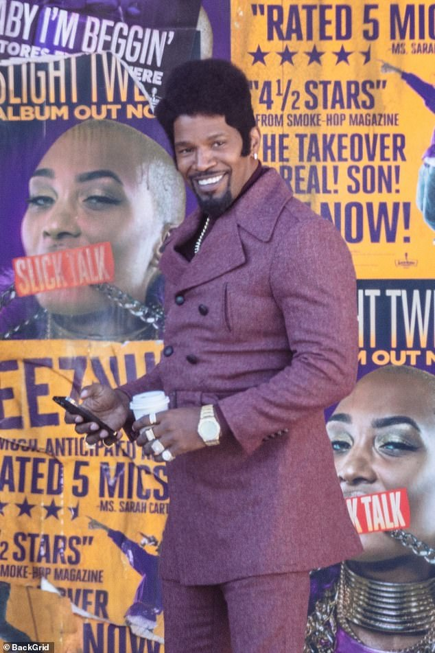 PICTURE EXCLUSIVE: First look at Jamie Foxx, John Boyega and Teyonah Parris on the set